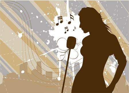 singer  Stock Vector - 9772807