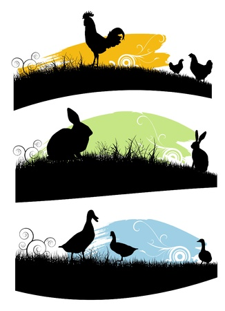 set of farm animals  Stock Vector - 9772839