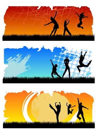 jumping people Stock Vector - 9772855