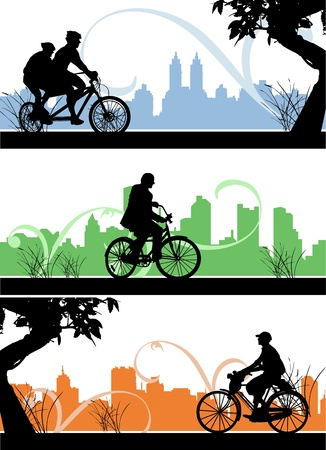 city man: bicycle