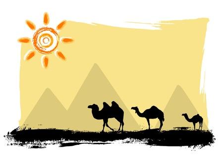 duna: camellos en el desierto