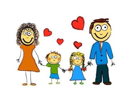 Cute Family  Vector