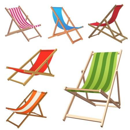 strandstoel: Strandstoel  Stock Illustratie