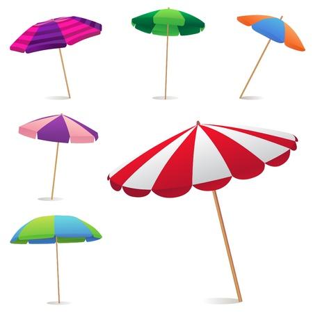 lluvia paraguas: Sombrilla de playa  Vectores