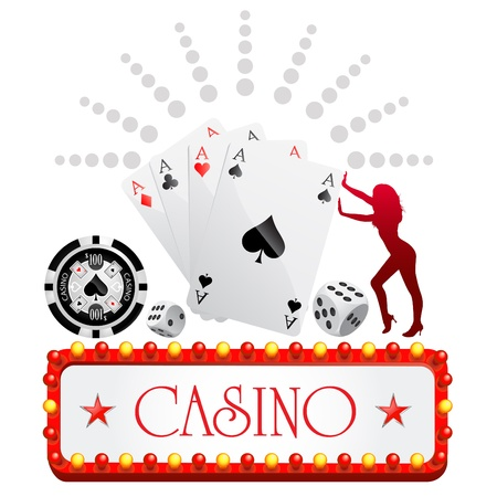 jackpot: casino design Illustration