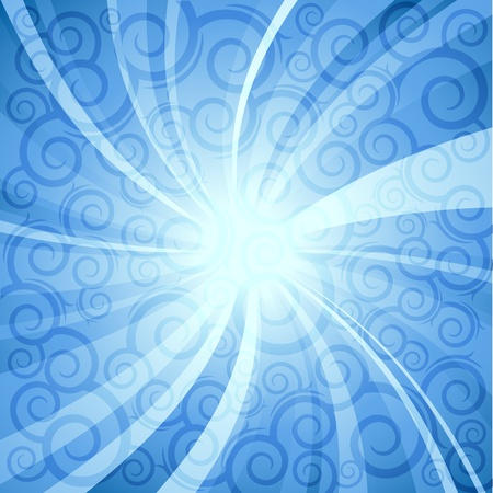 blue  sunlight. vector background  Vector
