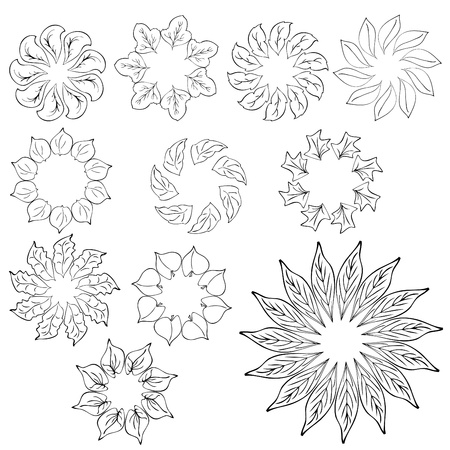 abstract flower design elements Stock Vector - 9878284
