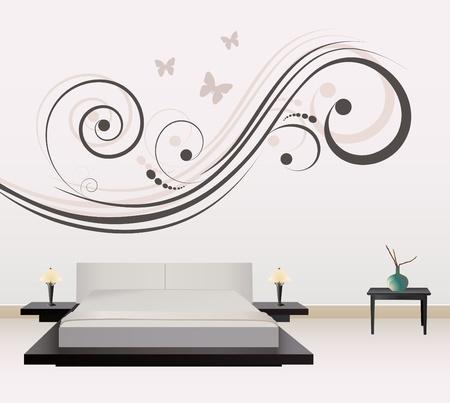 decoración de paredes  Ilustración de vector