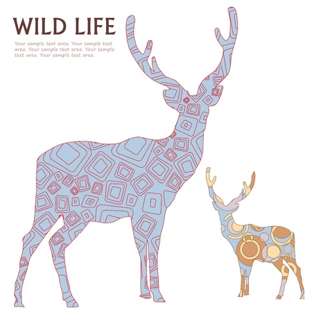 decorative deer  Illustration