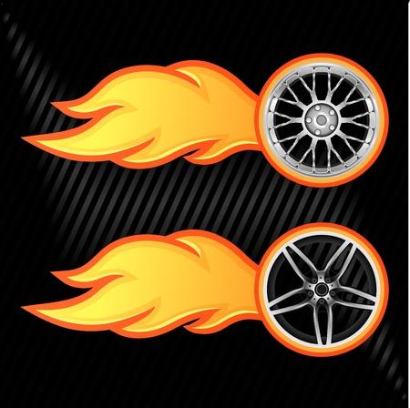 rally car: Burning wheel