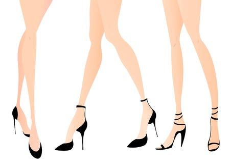 legs heels: Woman legs in fashion shoes
