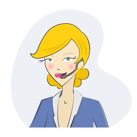 call center woman: Operador de tel�fono