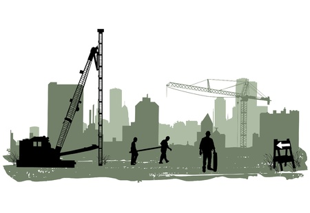 building construction: construction  Illustration