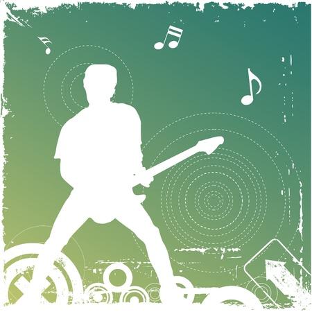 playing guitar: guitarist