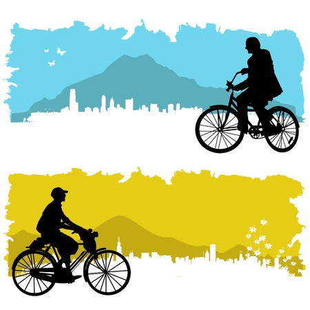 bicycle silhouette: bicycle Illustration