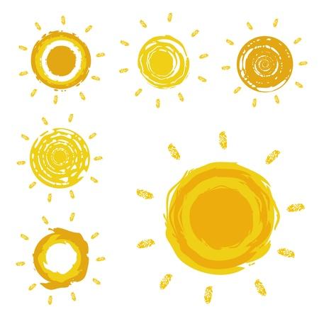sun illustration: sun design