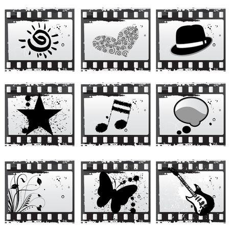 film with symbols vector  Vector