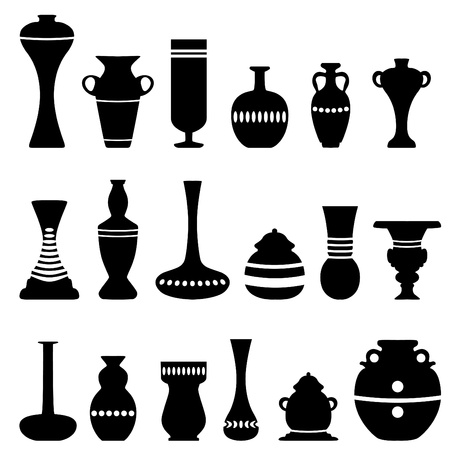 decorative vase vector  Vector