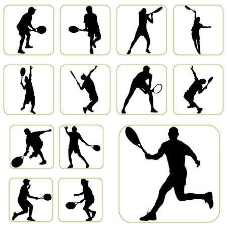 tennis serve: tennis set