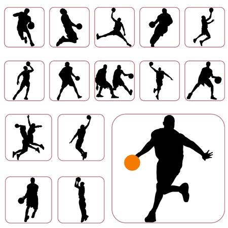 canestro basket: basket serie Vettoriali