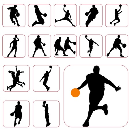 a basketball player: basketball set