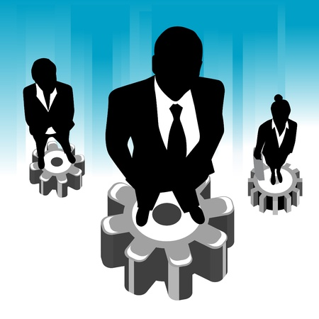 gran angular: negocio de equipo de alto �ngulo vista