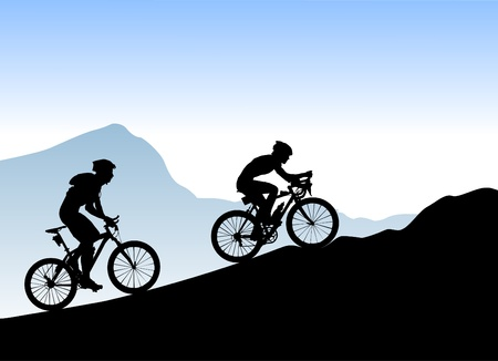 mountain bicycles: bikers