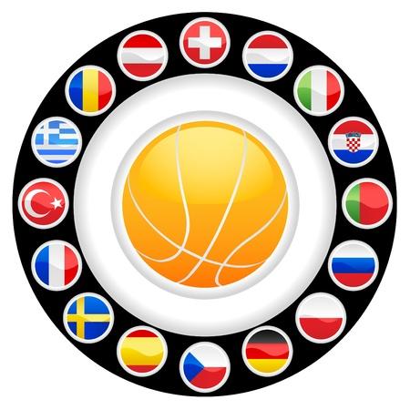 romania flag: basketball championship