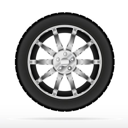 motricit�: Tyr et la roue de la voiture