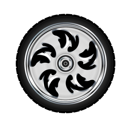 motorbikes: Motorcycle wheel and tyre