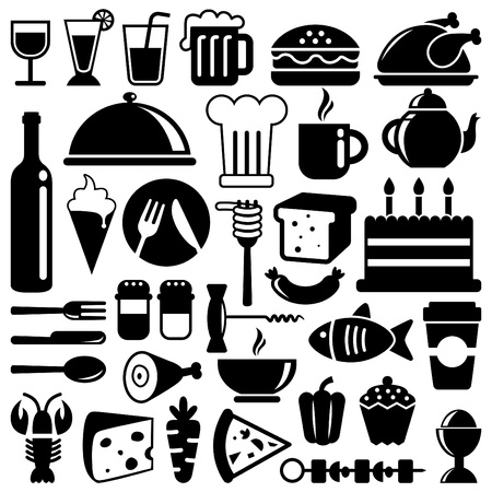 aliment: icônes de nourriture