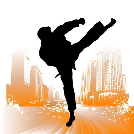 karate kick: karate