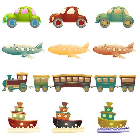sea transport: cartoon vehicles Illustration