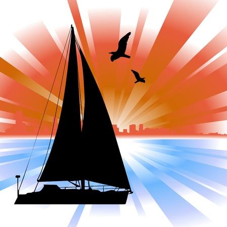 flying boat: sailing
