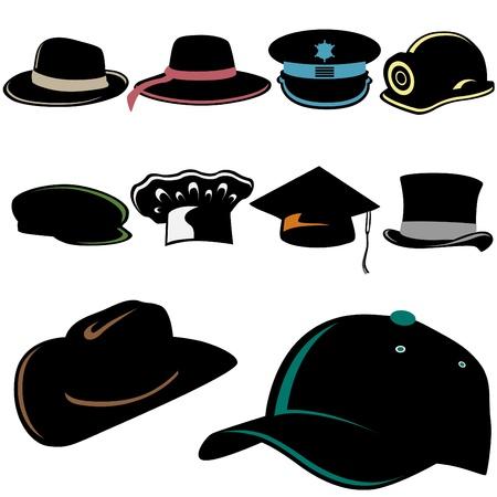 hat set Stock Vector - 10182890