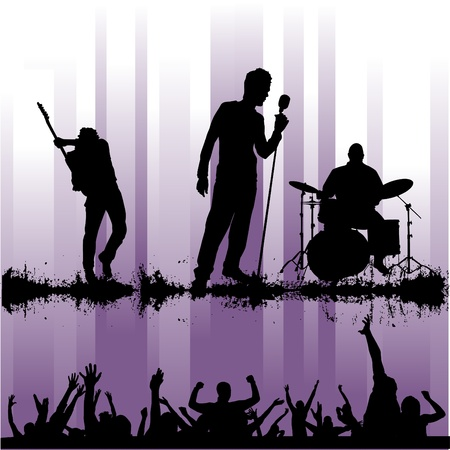 alternative rock: rock concert Illustration