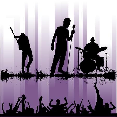 activate: rock concert Illustration