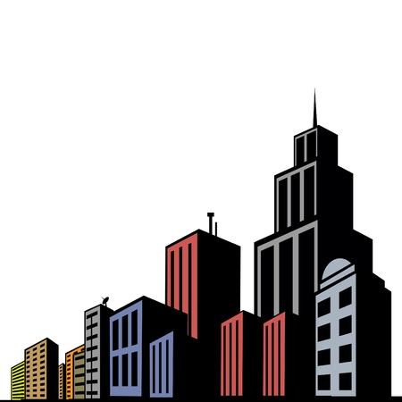 メトロポリス: 近代的な建物  イラスト・ベクター素材