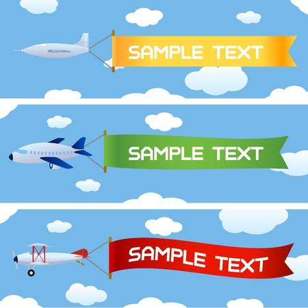 vliegtuigen met bericht