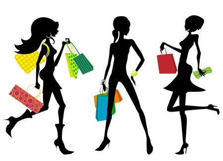 shopping cartoon: shopping woman