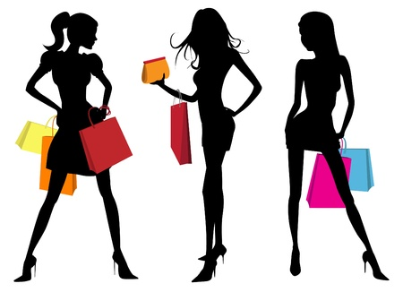 shopper: Shopping-Frau Illustration