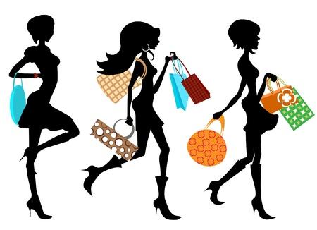 shoppen: Shopping-Frau Illustration