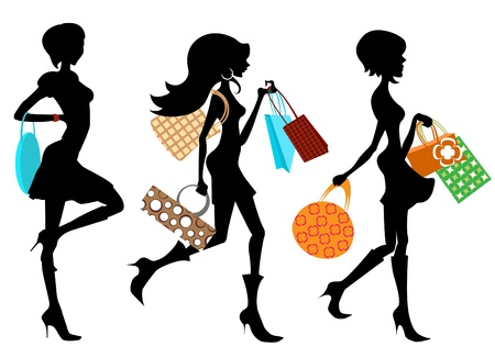 ladies shopping: shopping woman