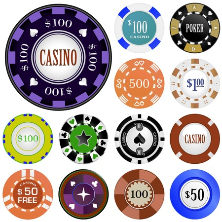 casino chip: gambling chips  Illustration