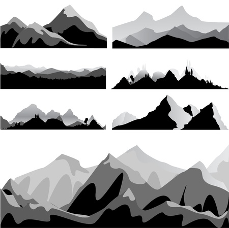 mountain set  Illustration
