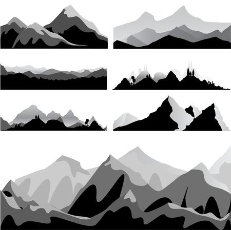 coast: mountain set  Illustration