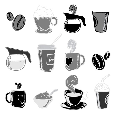 coffee cup isolated: coffee design elements