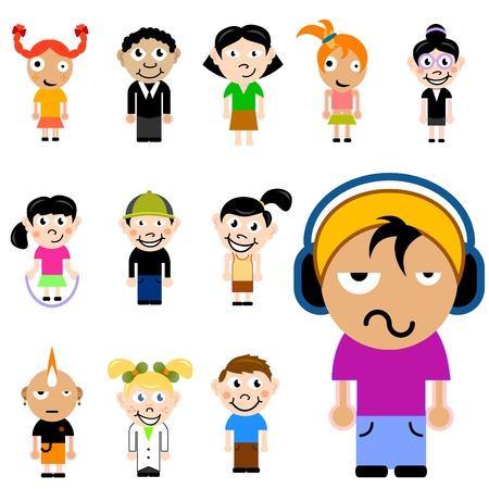 cartoon children character set Illustration