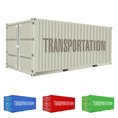 import trade: freight container  Illustration