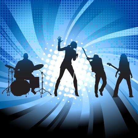 guitariste: Groupe musical  Illustration